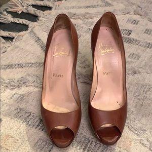 Christian Louboutin brown heels